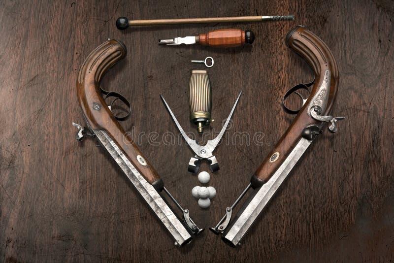 De pistolen van Dueling royalty-vrije stock afbeelding