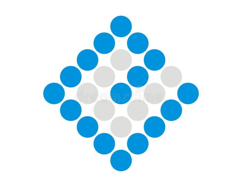 De Pixel van het embleem e   stock illustratie