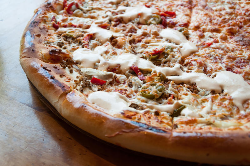 De pizza van de familie royalty-vrije stock foto