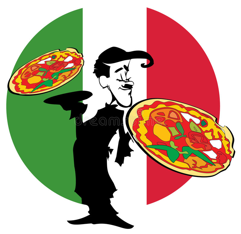 De pizza van de REEKS van de BAAN