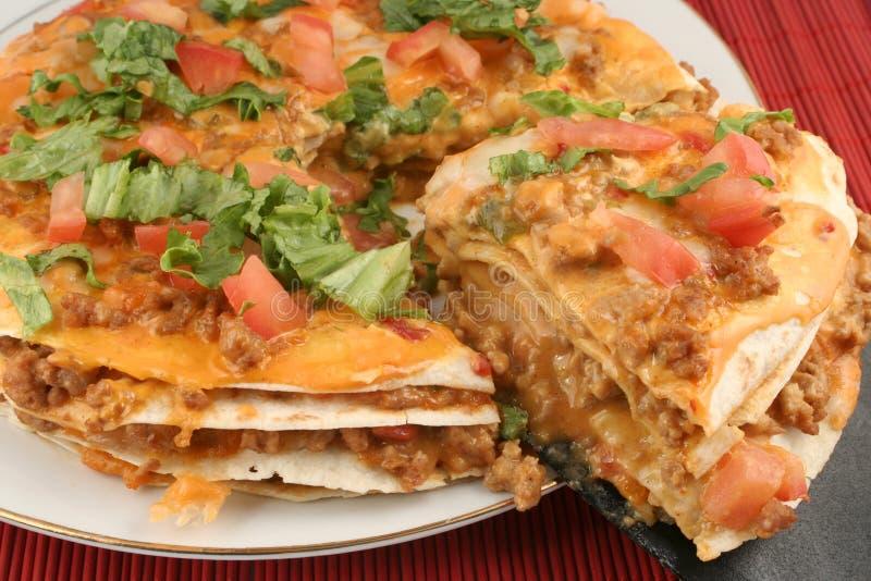 De pizza van de taco stock foto's