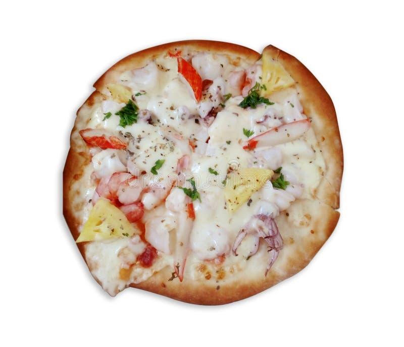 De pizza van zeevruchten stock afbeeldingen