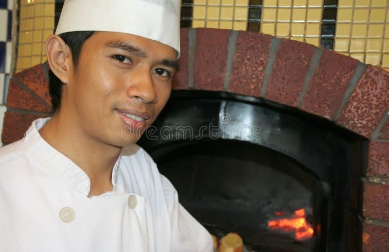 De Pizzarestaurant Van Chef-koks Royalty-vrije Stock Afbeeldingen