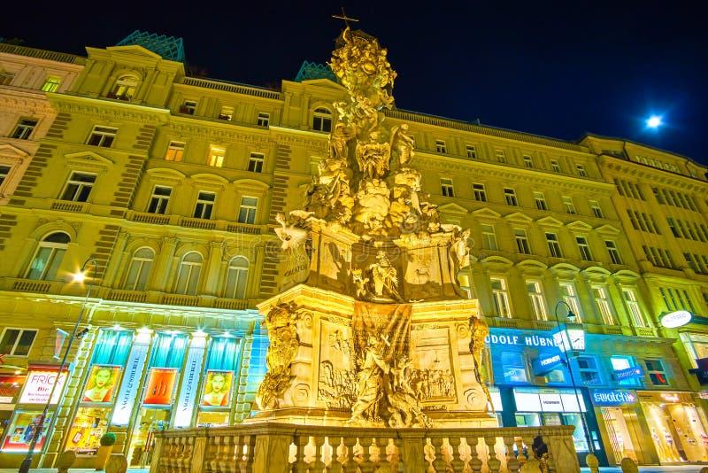 De Plaagkolom in Wenen, Oostenrijk stock afbeelding