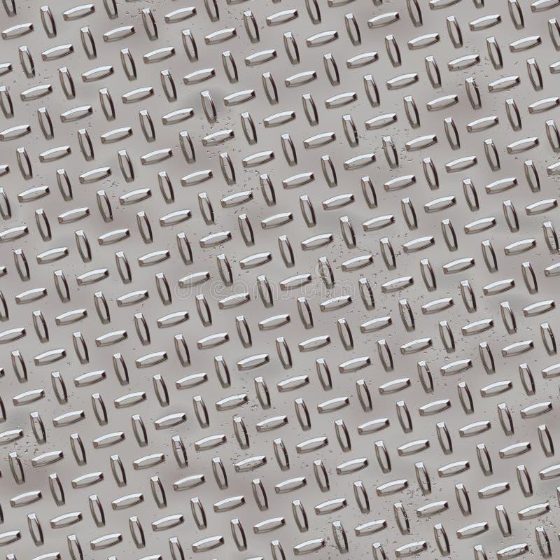 De Plaat van de diamant - het Grijs van het Chroom stock illustratie