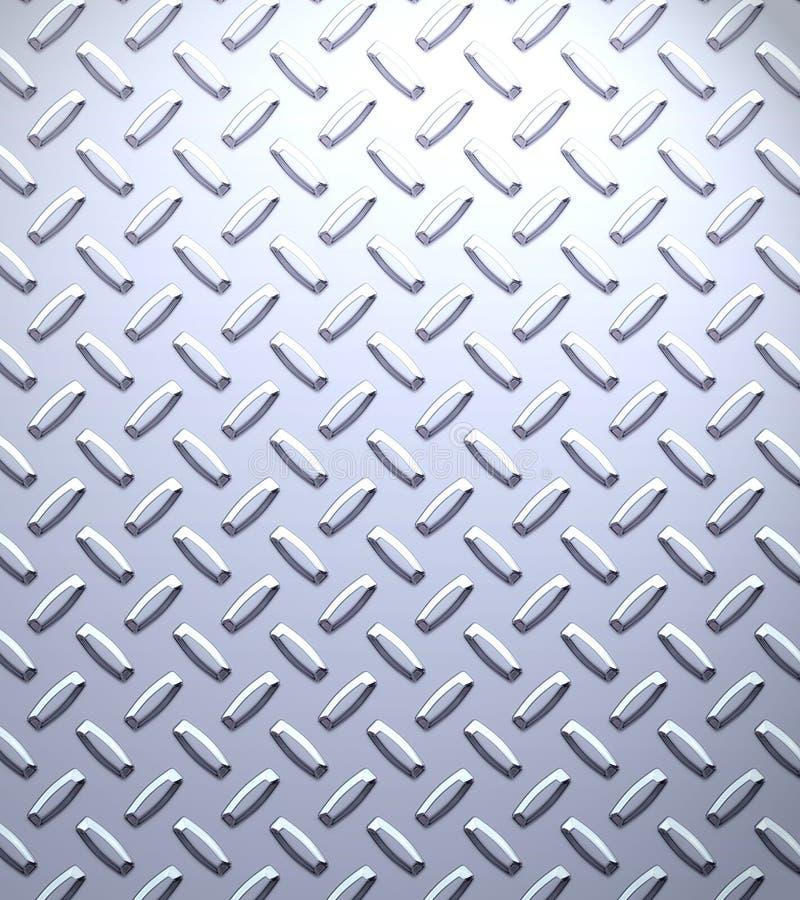 De plaat van de het metaaldiamant van het staal   royalty-vrije illustratie