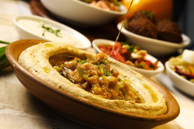 De plaat van de humus stock foto's