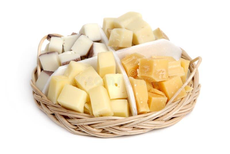 De plaat van de kaas royalty-vrije stock foto's