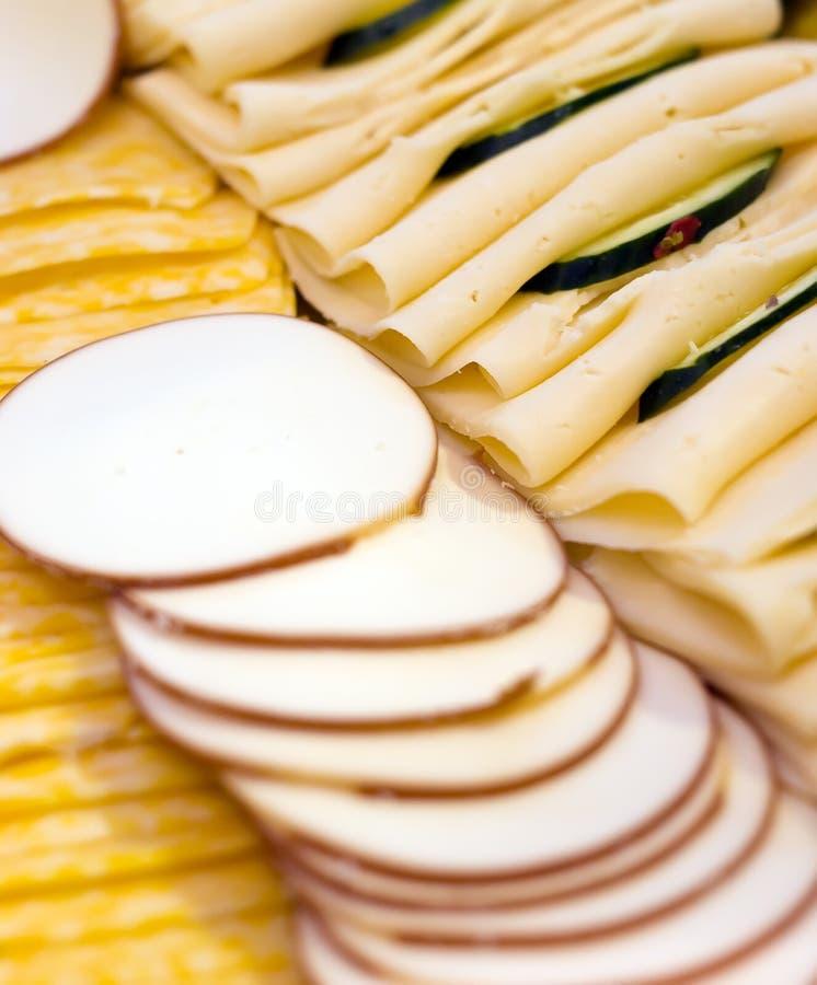 De plaat van de kaas stock afbeelding