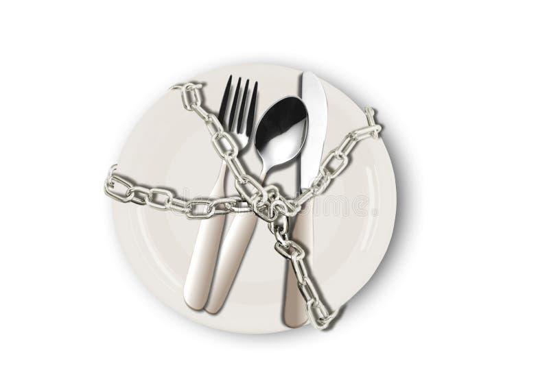 De plaat van het dieet royalty-vrije illustratie
