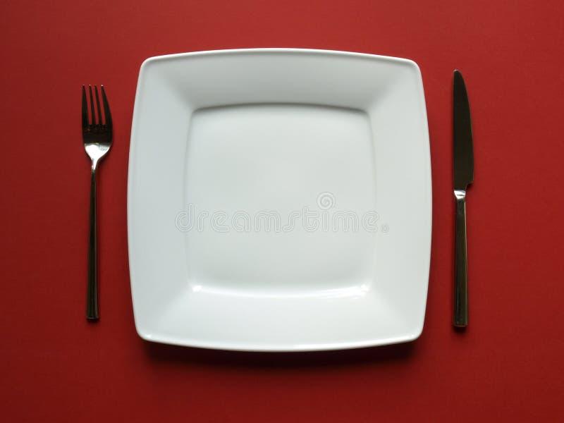 De plaat van het diner stock fotografie