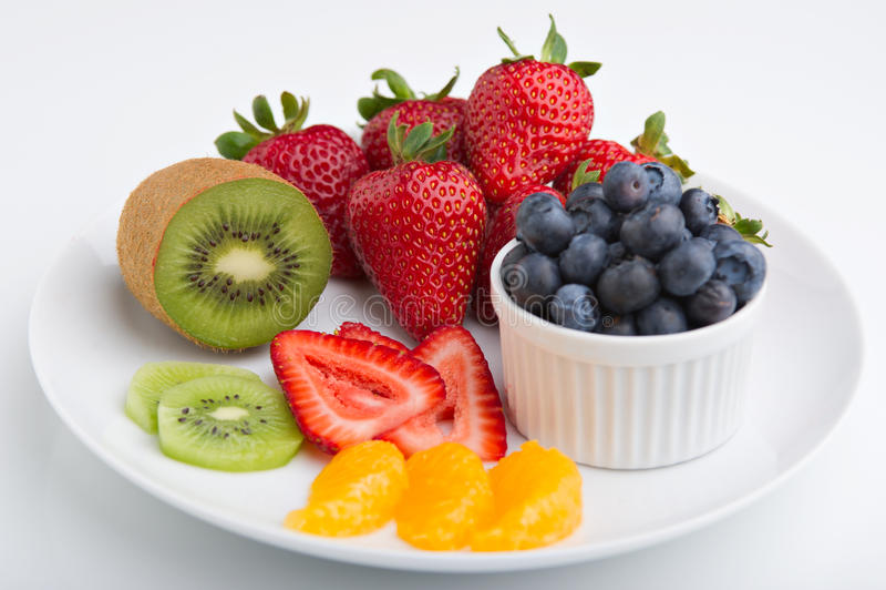 De plaat van het fruit royalty-vrije stock afbeelding