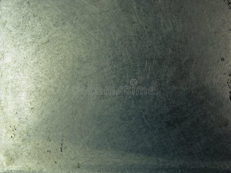De plaat van het het metaalchroom van Grunge stock foto