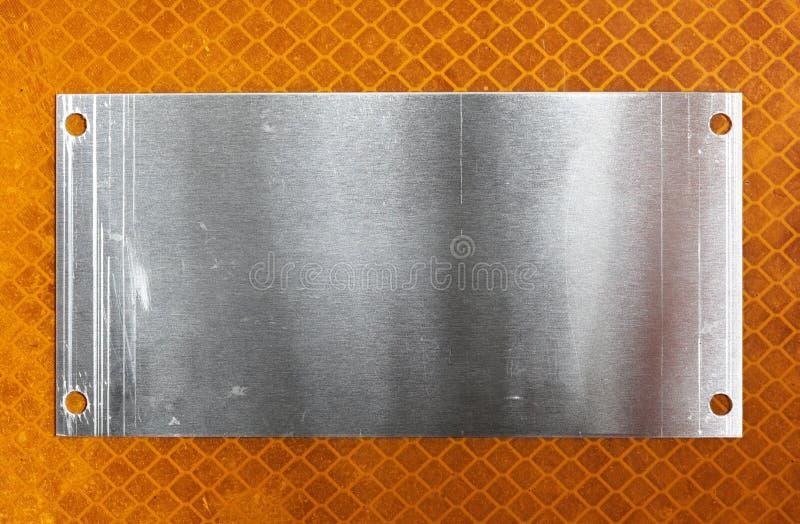De plaat van het metaal stock foto