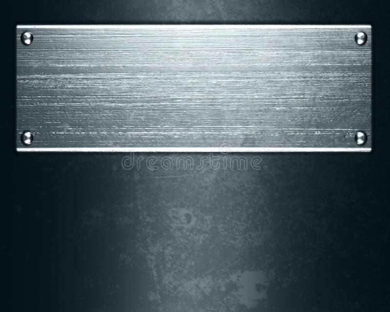 De plaat van het metaal stock foto's
