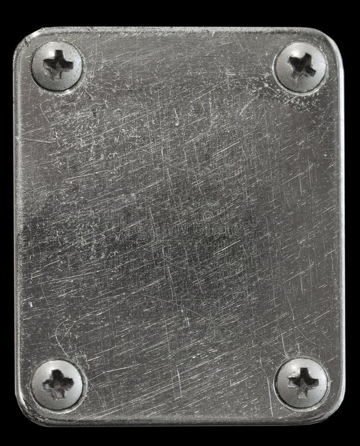 De plaat van het metaal royalty-vrije stock afbeeldingen