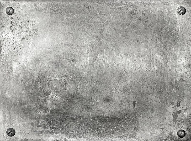 De plaat van het metaal stock afbeelding