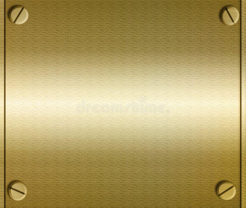 De Plaat van het metaal met Schroeven vector illustratie