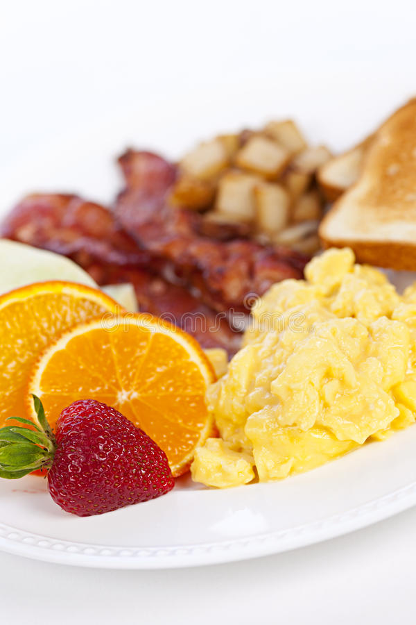 De plaat van het ontbijt royalty-vrije stock fotografie