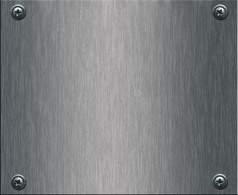 De plaat van het staal met bouten stock fotografie