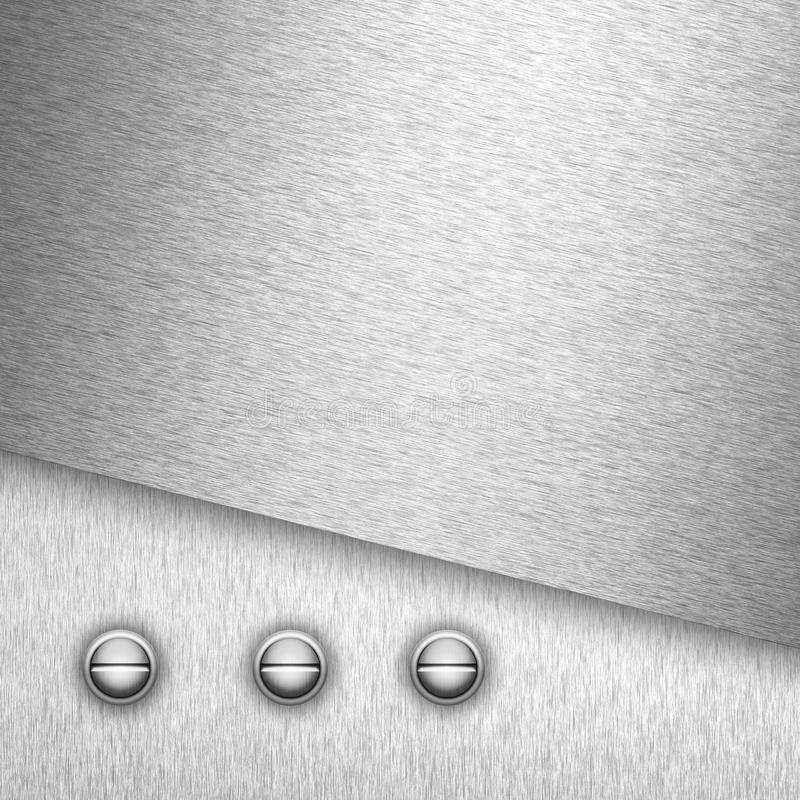 De plaat van het staal met schroeven stock illustratie