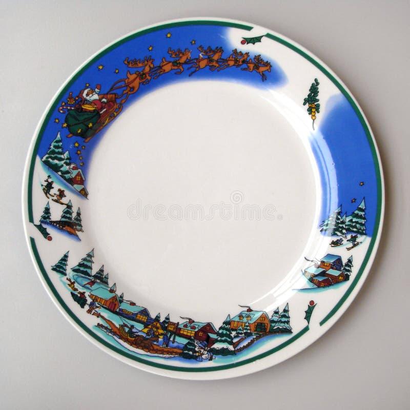 De plaat van Kerstmis royalty-vrije stock afbeelding