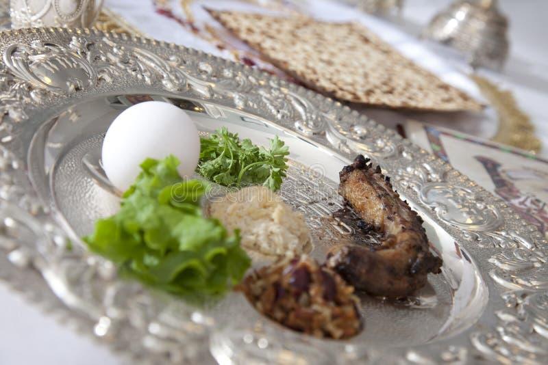 De Plaat van Seder van de Pascha royalty-vrije stock afbeeldingen