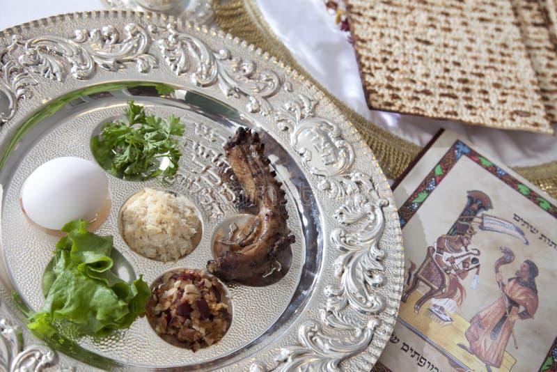 De Plaat van Seder van de Pascha   stock fotografie