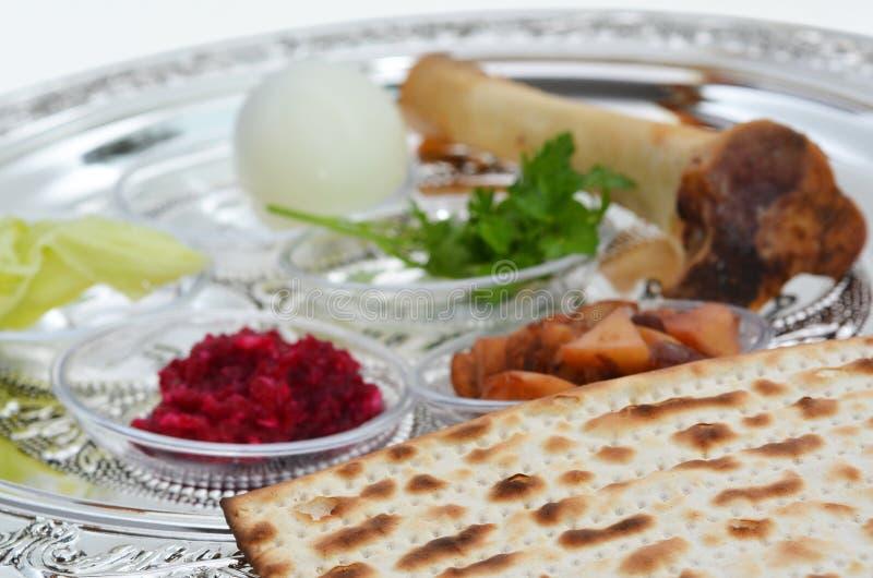 De Plaat van Seder van de Pascha stock foto's