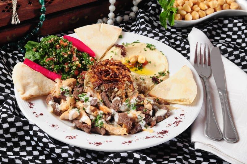 De plaat van Shawarma. royalty-vrije stock afbeeldingen