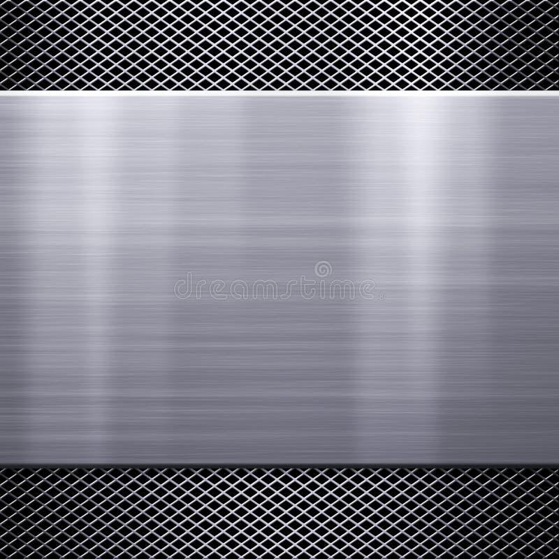 Download De Plaatachtergrond Van Het Metaal Stock Illustratie - Illustratie bestaande uit aluminium, industry: 29510631