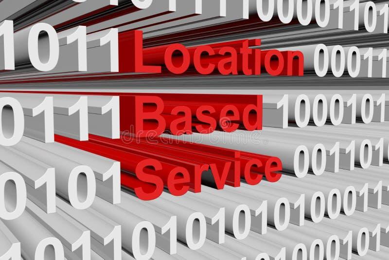 De plaats gebaseerde dienst vector illustratie