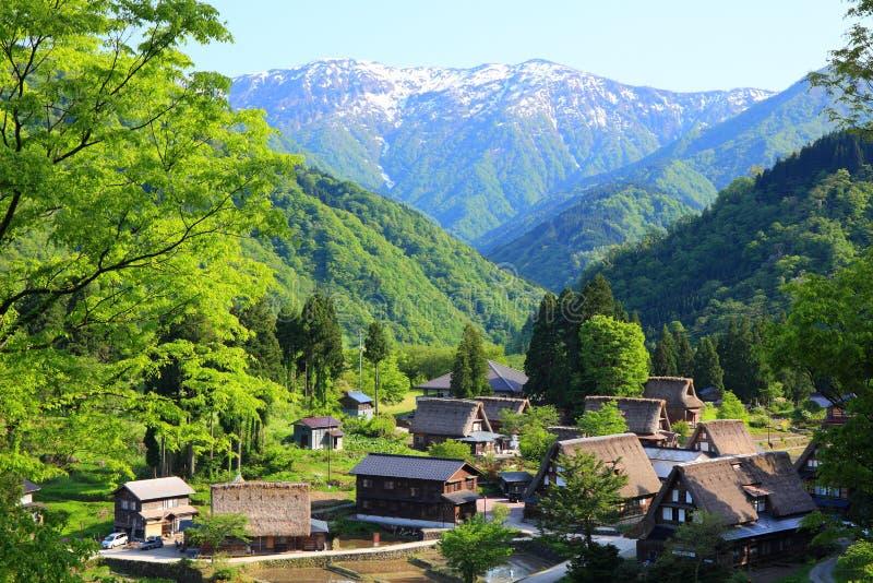 De plaats Gokayama van de werelderfenis royalty-vrije stock afbeeldingen