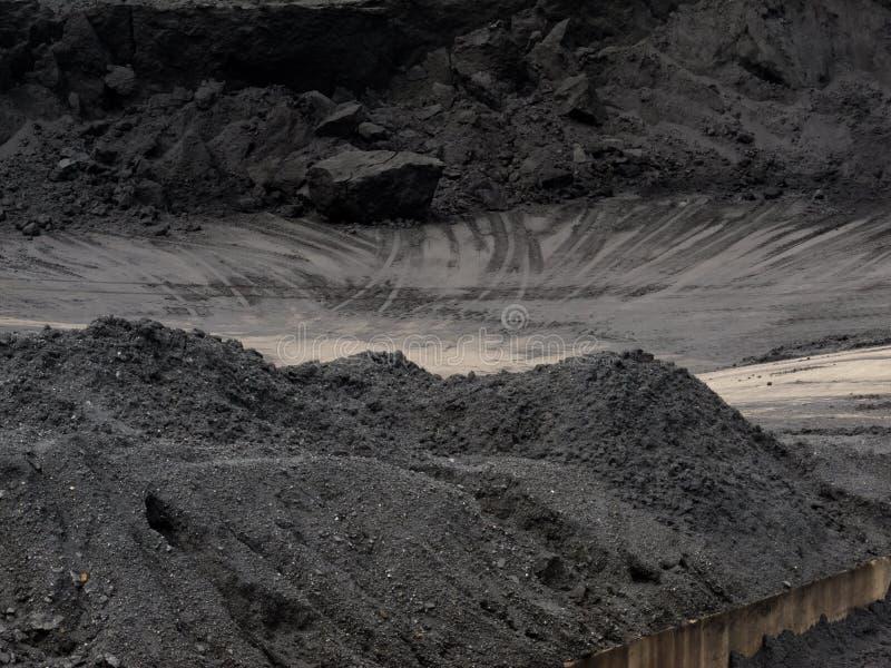 De plaats van de de overdrachtopslag van de kolenmijntrein royalty-vrije stock afbeeldingen