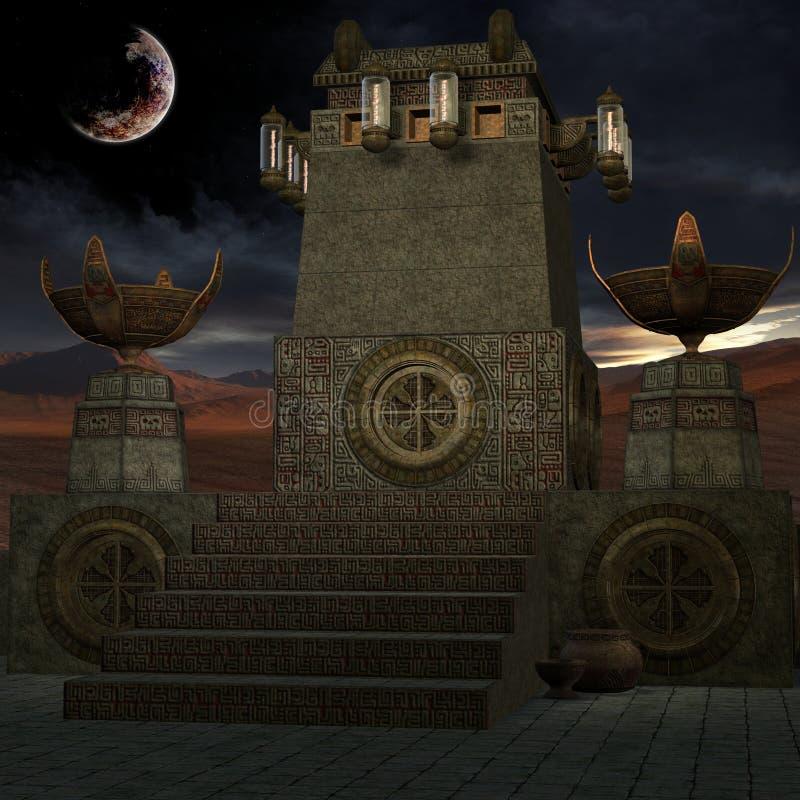 De Plaats van de mysticus stock illustratie