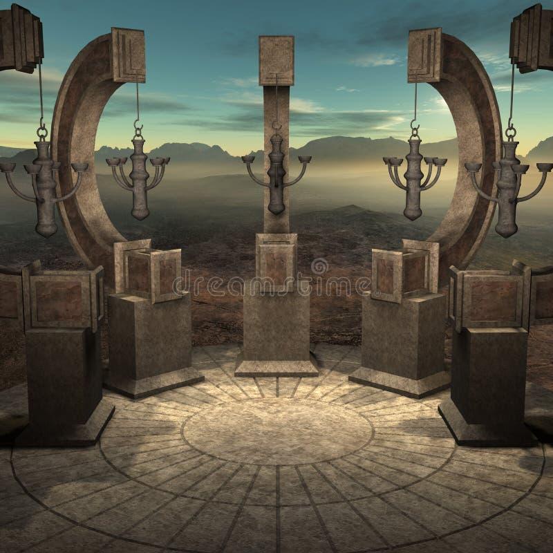 De Plaats van de mysticus royalty-vrije illustratie