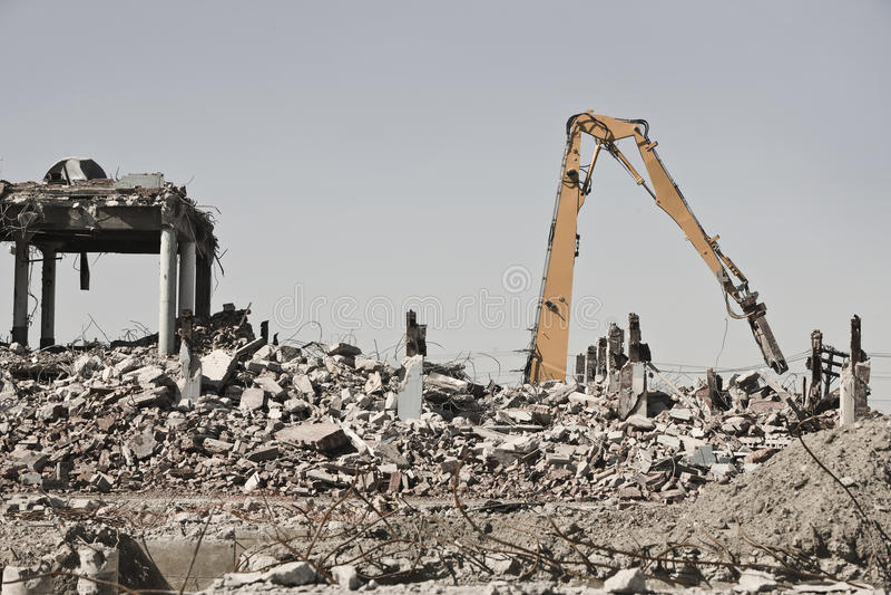Download De Plaats Van De Vernieling Stock Foto - Afbeelding bestaande uit gebrand, ruimten: 10782590