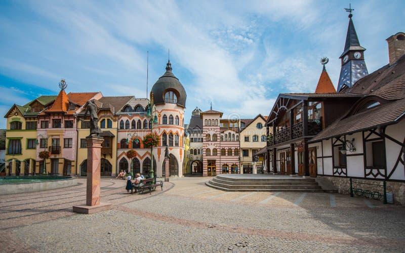 De Plaats van Europa, Komarno, Slowakije stock fotografie