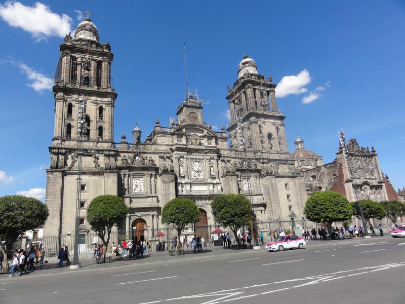 "De plaats van de Grondwet ""Zà ³ calo† †""Ciudad DE Mexico - Mexico stock afbeelding"
