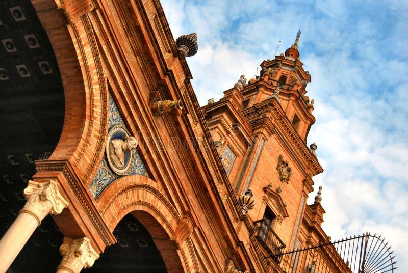 De plaats van Spanje in Sevilla stock foto's