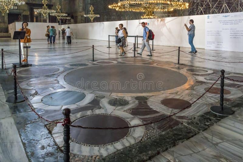 De plaats van de traditionele kroning van Byzantijnse keizers binnen royalty-vrije stock foto