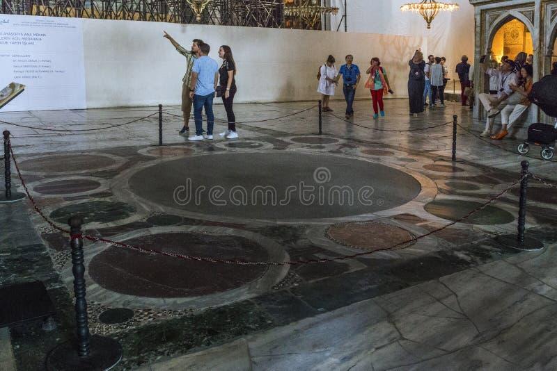 De plaats van de traditionele kroning van Byzantijnse keizers binnen stock foto's