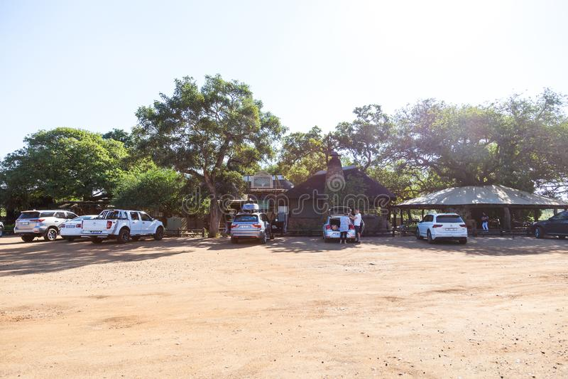 De plaats van de Tshokwanepicknick in het Kruger-park, Zuid-Afrika royalty-vrije stock afbeeldingen