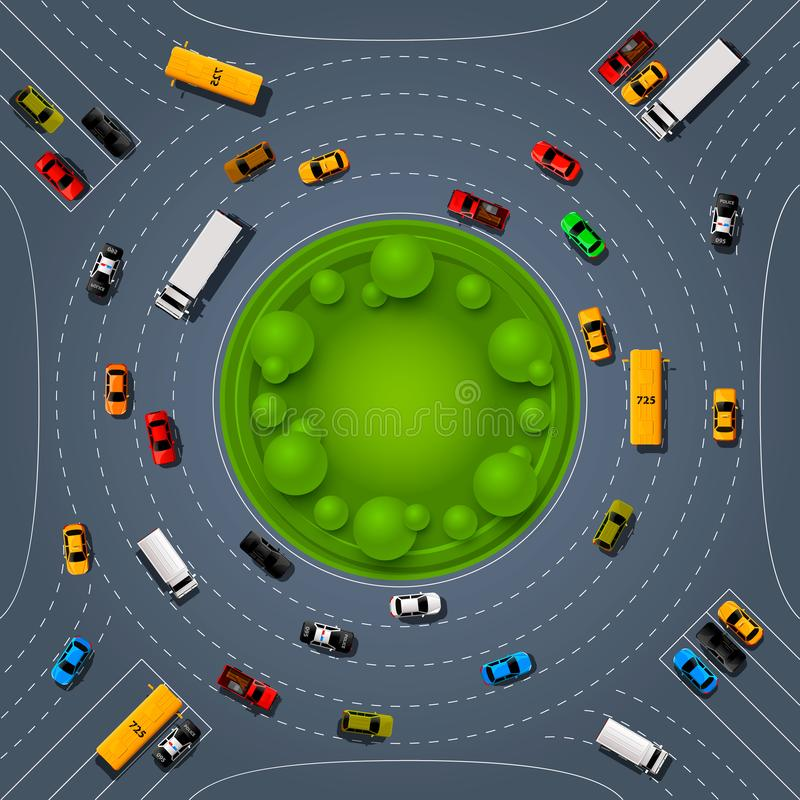 De plaats van de wegmanier, de kunstdekking van de Autorenneninformatie vector illustratie
