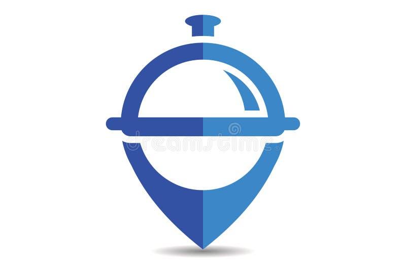 De plaatsembleem van het restaurantvoedsel vector illustratie