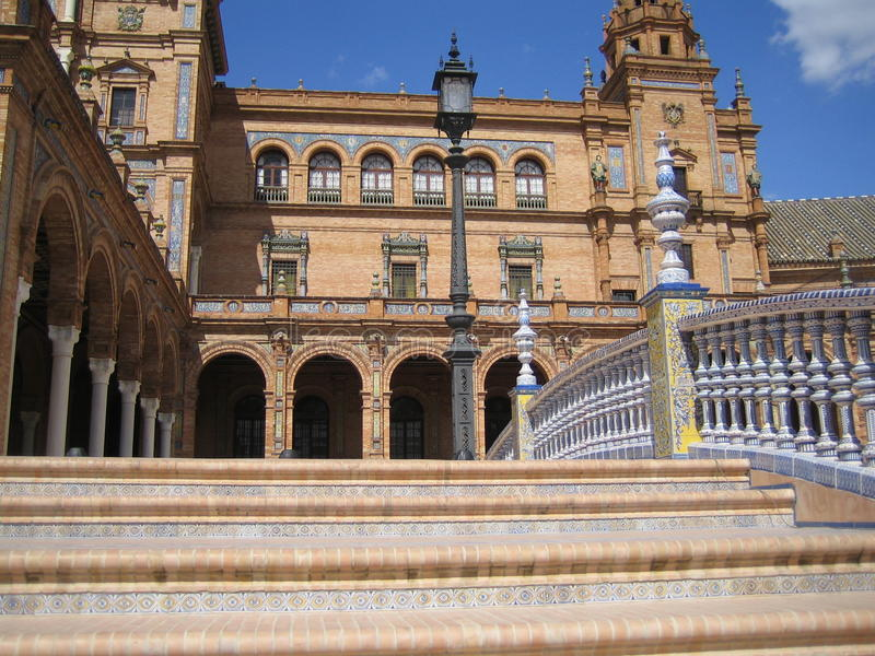 de plac Espana Sevilla fotografia stock
