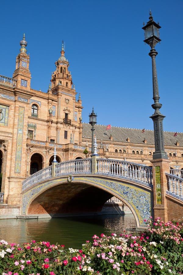 de plac Espana Sevilla Spain fotografia stock