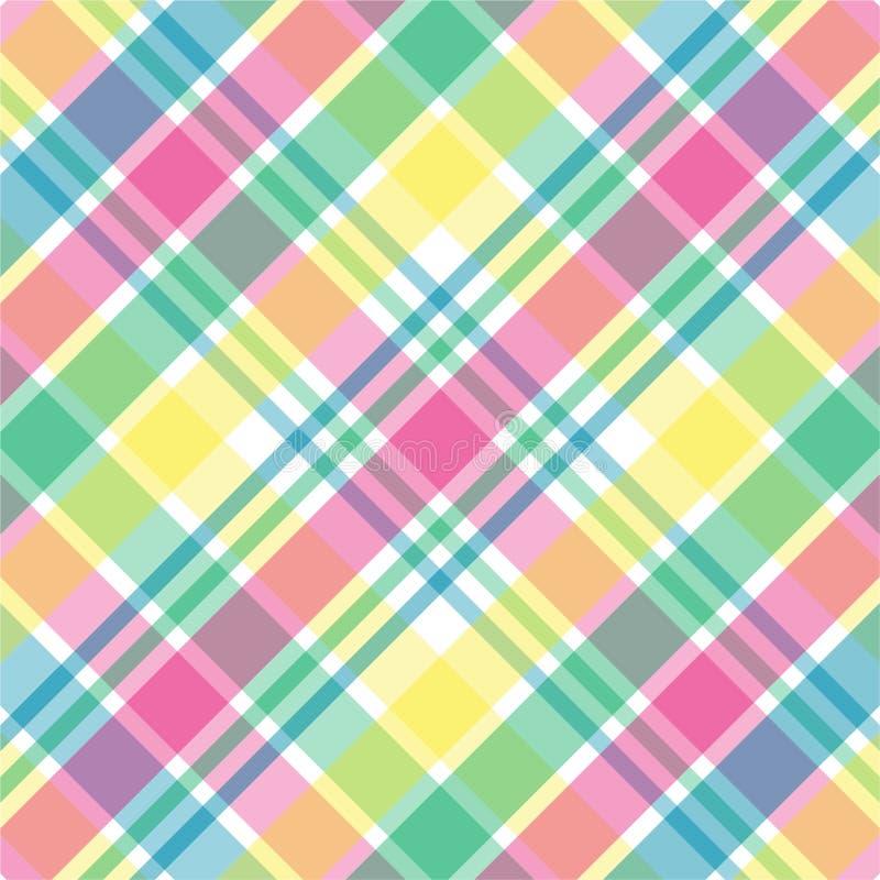 De Plaid van de pastelkleur vector illustratie