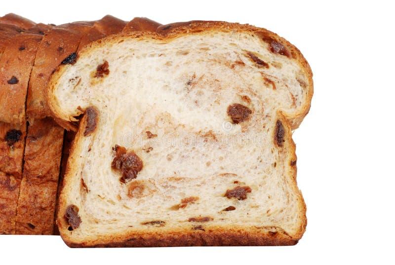 De plak van de close-up van rozijnenbrood royalty-vrije stock foto