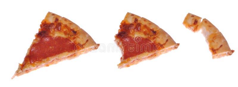 De plak van de pizza royalty-vrije stock foto